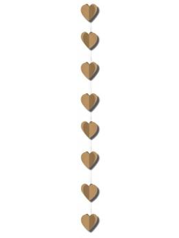 Guirlande verticale coeurs kraft 2m