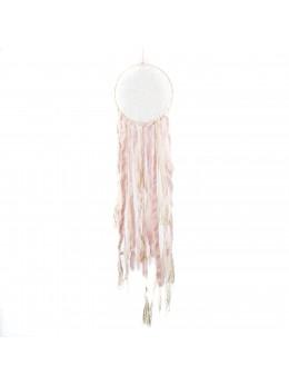 Attrape rêve ivoire et rose pastel