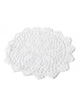 Napperon crochet blanc 20cm