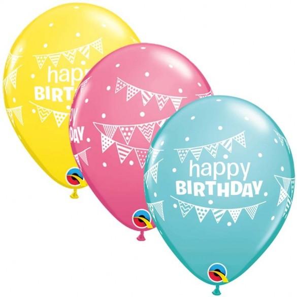 10 Ballons anniversaires guirlandes