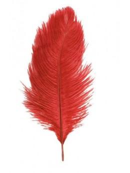 2 Plumes autruche rouge deluxe 35cm