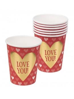 6 gobelets Love You