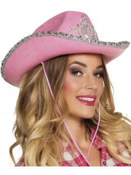 Chapeau Cowgirl princesse rose
