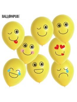 8 ballons Emoji humeur