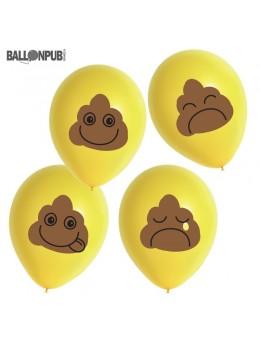 8 ballons Emoji crotte
