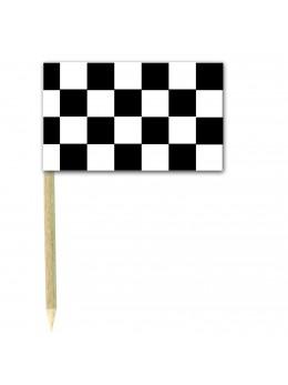50 Mini drapeaux luxe damiers