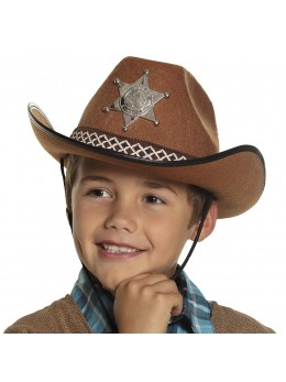 Chapeau cowboy junior marron