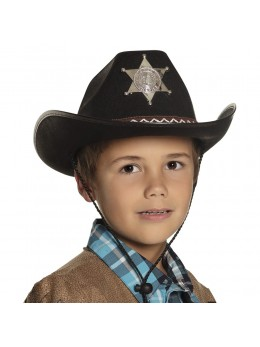 Chapeau sheriff junior noir