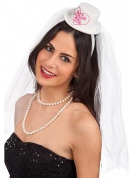 Serre-tête avec voile future mariée