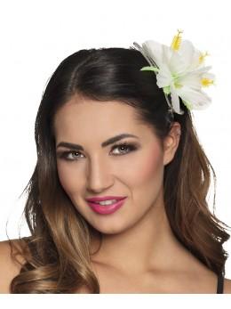 Barette Fleur hawai blanche