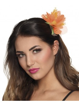 Barette Fleur hawai orange