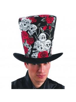 chapeau haut de forme roses