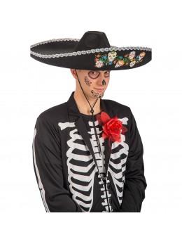 Chapeau mexicain dia de los muertos