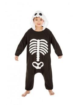 Déguisement kigurumi squelette enfant