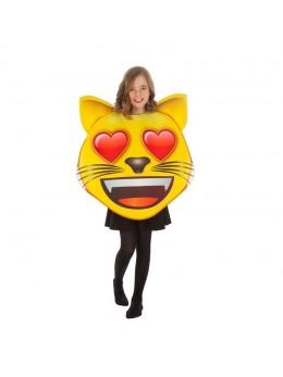 Déguisement  emoji chat coeur enfant