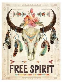 Décor cadre avec toile motif Free spirit