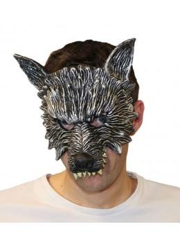 Masque latex 1/2 visage loup garou