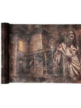 Chemin de table zombies Halloween