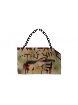 """Pancarte Halloween 3D """"This way"""""""