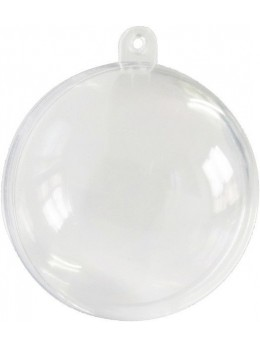 20 Boules PVC transparente 6cm