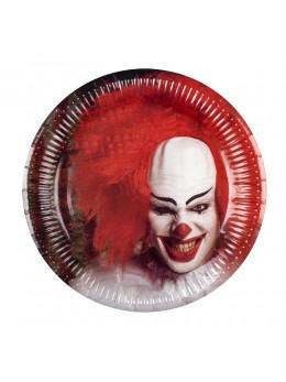 6 assiettes clown d'horreur