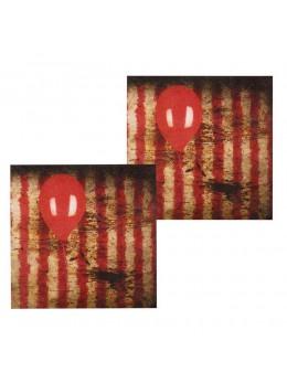 12 serviettes clown d'horreur