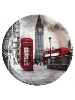 10 Assiettes Londres Angleterre 23cm