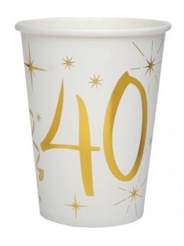 10 gobelets dorés 40 ans