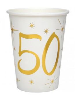 10 gobelets dorés 50 ans