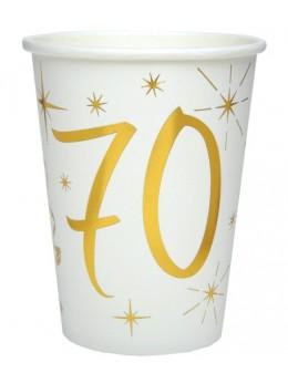 10 gobelets dorés 70 ans