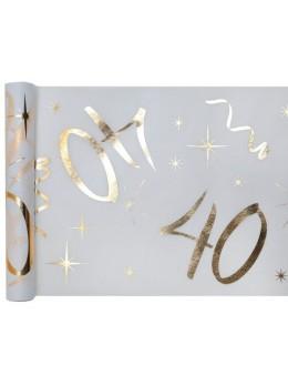 Chemin de table age doré 40 ans