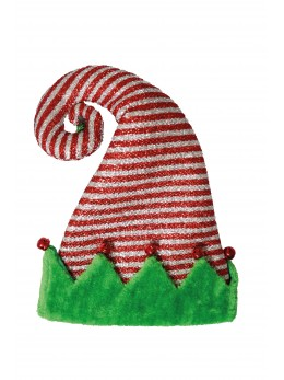 Bonnet de lutin tinsel avec grelots