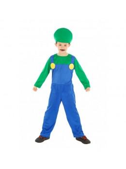 Déguisement Plombier enfant vert