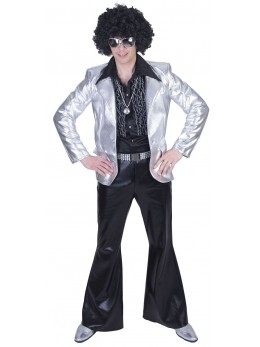 Déguisement veste homme disco argent