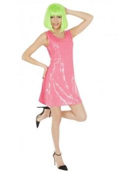 Déguisement robe sequin rose