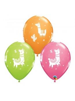 10 Ballons Lama multico 30cm