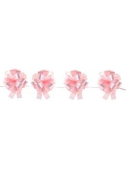 Kit guirlande 10 noeuds automatique bolduc rose