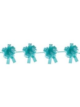Kit guirlande 10 noeuds automatique bolduc turquoise
