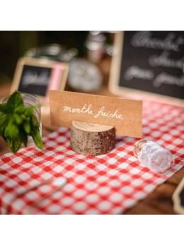 Porte menu rondin de bois