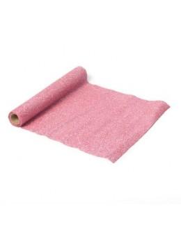 Chemin de table organza paillettes rose