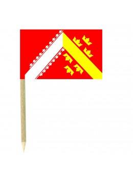 50 Mini drapeaux luxe Alsace