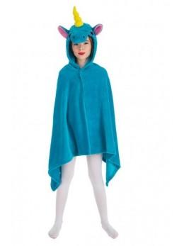Déguisement cape licorne bleu enfant