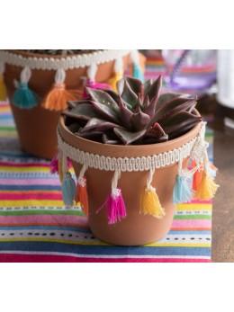 Ruban pompon péruvien multicolore