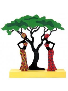 Centre de table Afrique multicolore