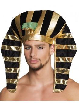 Coiffe Pharaon noire et or