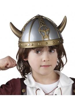 casque viking gris
