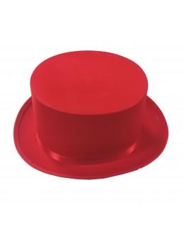 gibus haut de forme rouge