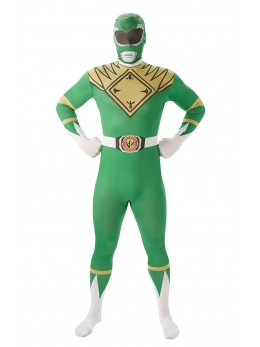 Déguisement seconde peaut Power Rangers vert