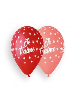 10 Ballons Je t'aime rouge et rose