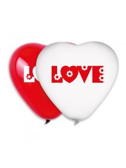 Sachet 2 Ballons géant coeur Love 54cm